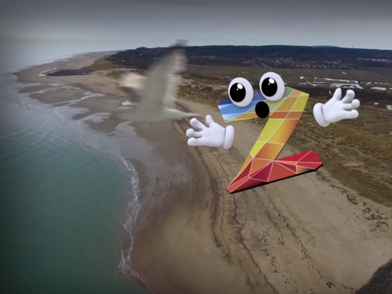 3D animatie Ziri vliegt door Zeeland